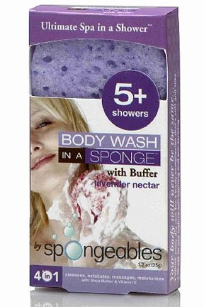 Womens Spongeables Travel Size Body Wash In A Sponge