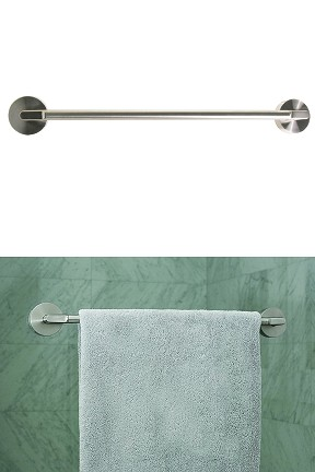 Stainless Steel Friction Mount Towel Bar - Attach almost anywhere.