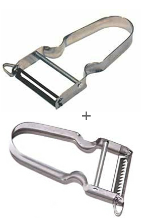 Star Peeler Combo - One serrated and one regular peeler.