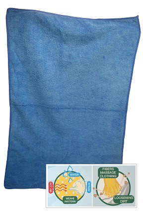 Wrinkle releasing dryer towel.