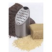 Easily grate and serve hard cheese or chocolate.