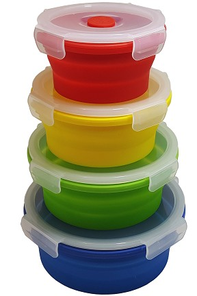 Round Silicone Storage Set
