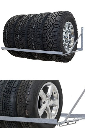 Wall Mounted Car Tire Storage Rack