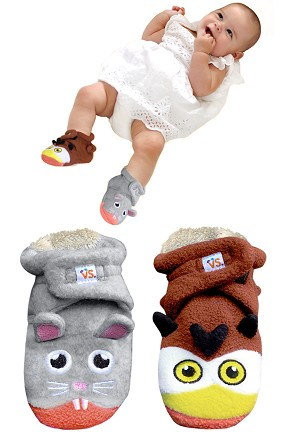 Owl and Mouse Infant Booties