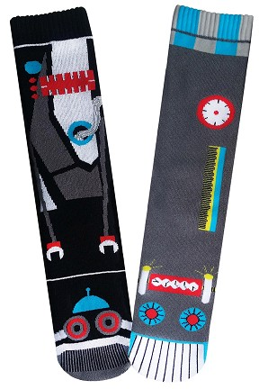 Robot Vs Robot Socks For Men