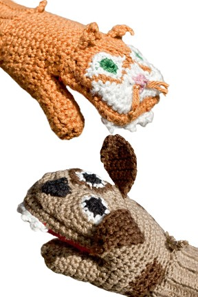 Children's Dog vs. Cat Mittens